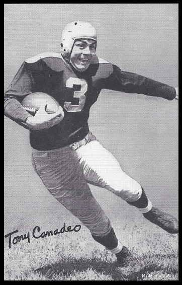 Tony Canadeo 1948-52 Exhibit football card