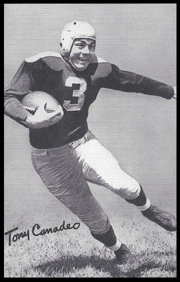 Tony Canadeo 1948-52 Exhibit football card