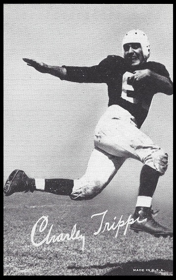 Charley Trippi 1948-52 Exhibit football card