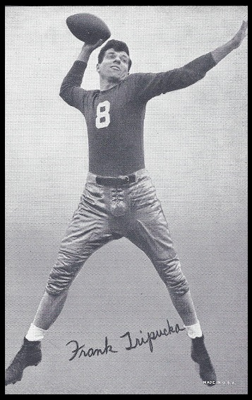 Frank Tripucka 1948-52 Exhibit football card