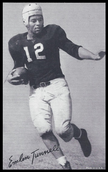 Emlen Tunnell 1948-52 Exhibit football card