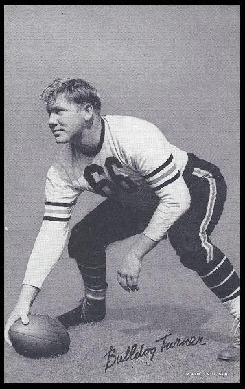 Bulldog Turner 1948-52 Exhibit football card
