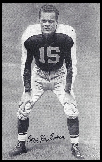 Steve Van Buren 1948-52 Exhibit football card