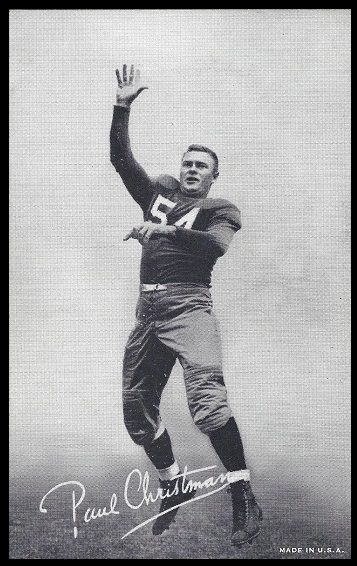 Paul Christman 1948-52 Exhibit football card