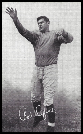 Bob Cifers 1948-52 Exhibit football card