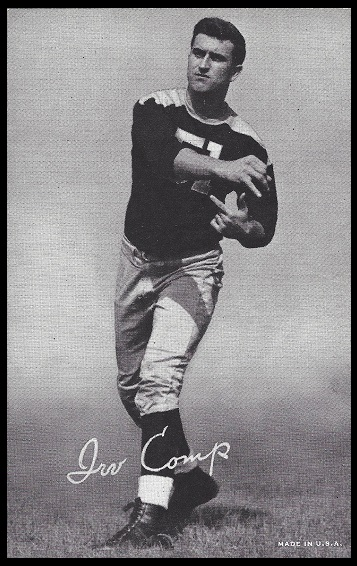 Irv Comp 1948-52 Exhibit football card
