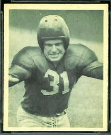 Bill Miklich 1948 Bowman football card