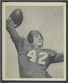 Charley Conerly 1948 Bowman football card