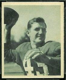 Sammy Baugh 1948 Bowman football card