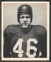 John Koniszewski 1948 Bowman football card