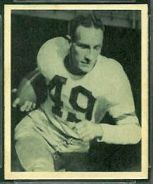 Pat McHugh 1948 Bowman football card