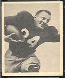 Pat Harder 1948 Bowman football card