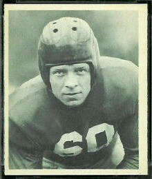 Len Younce 1948 Bowman football card