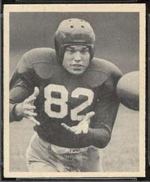Ray Poole 1948 Bowman football card
