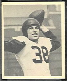 Skip Minisi 1948 Bowman football card