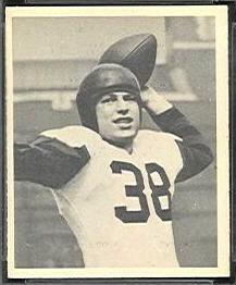 Skip Minisi 1948 Bowman football card