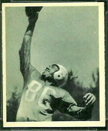 Bob Mann 1948 Bowman football card