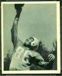Bob Mann 1948 Bowman football card