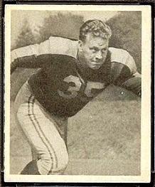 John Badaczewski 1948 Bowman football card