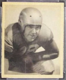 Paul Briggs 1948 Bowman football card