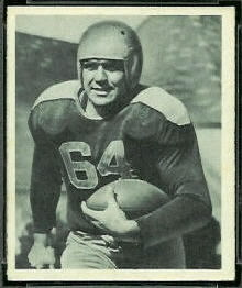 Ted Fritsch Sr. 1948 Bowman football card
