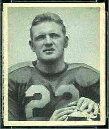 Boley Dancewicz 1948 Bowman football card