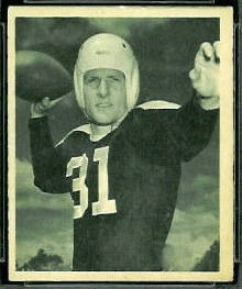 Perry Moss 1948 Bowman football card