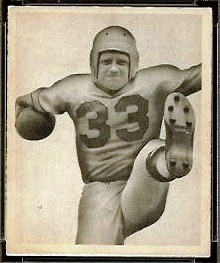 Herbert Banta 1948 Bowman football card