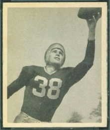 Nolan Luhn 1948 Bowman football card