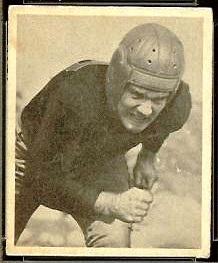 Bill Garnaas 1948 Bowman football card
