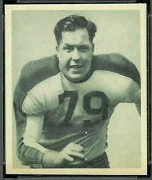 Vic Sears 1948 Bowman football card