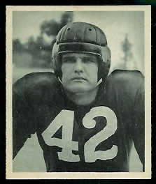 John Adams 1948 Bowman football card