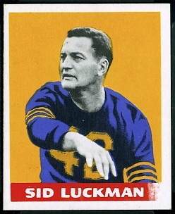 Sid Luckman 1948 Leaf football card