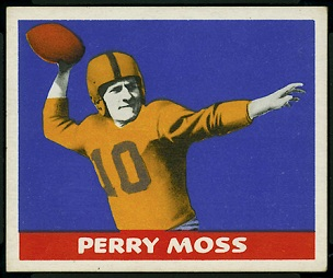 Perry Moss 1948 Leaf football card