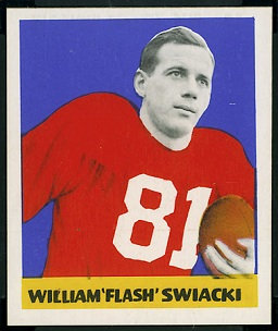 Bill Swiacki 1948 Leaf football card