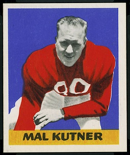 Mal Kutner 1948 Leaf football card