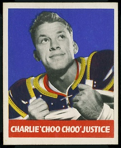 Charlie Justice 1948 Leaf football card