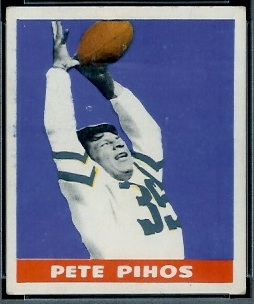 Pete Pihos 1948 Leaf football card