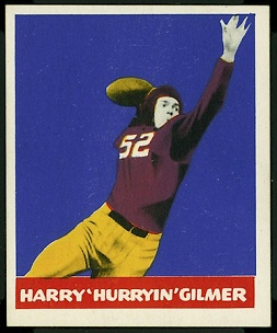 Harry Gilmer 1948 Leaf football card