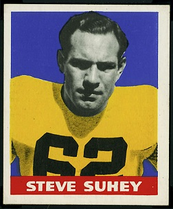 Steve Suhey 1948 Leaf football card