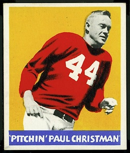 Paul Christman 1948 Leaf football card