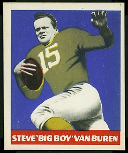 Steve Van Buren 1948 Leaf football card