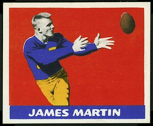 Jim Martin 1948 Leaf football card