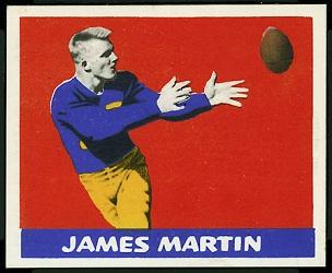 Jim Martin 1948 Leaf football card