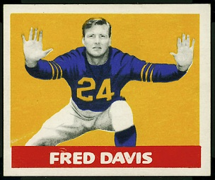 Fred Davis 1948 Leaf football card