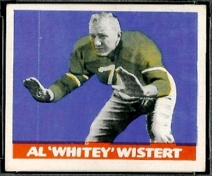 Al Wistert 1948 Leaf football card