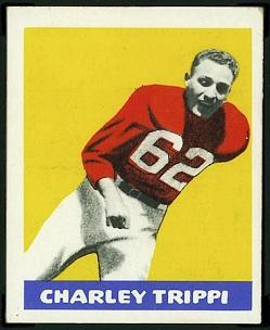Charley Trippi 1948 Leaf football card