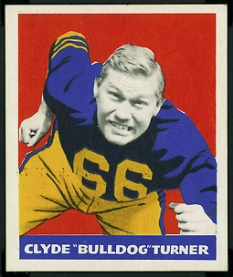 Bulldog Turner 1948 Leaf football card