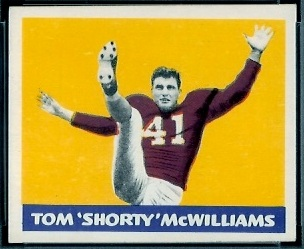 Tom McWilliams 1948 Leaf football card