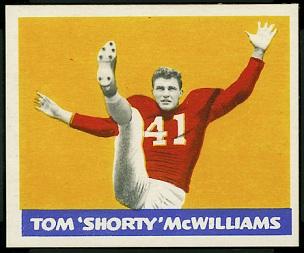 Tom McWilliams 1948 Leaf football card